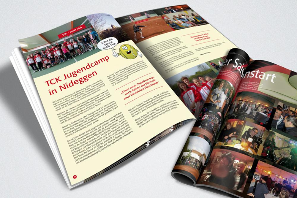 Magazin Design, Tennsiclub Königsdorf, Journal