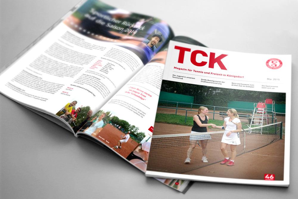 Magazin Design, Tennsiclub Königsdorf, Journal, Werbeagentur Köln